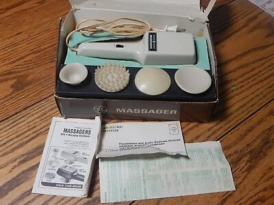 Vintage General Electric Vibrator Massager MR-1 5401-013 4 Attachments,Complete