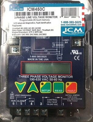 ICM 450C 3-Phase Line Voltage Monitor NEW