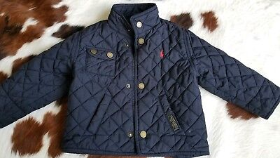 Polo Ralph Lauren Quilted Jacket Navy Blue tagged  24 Months (2t)