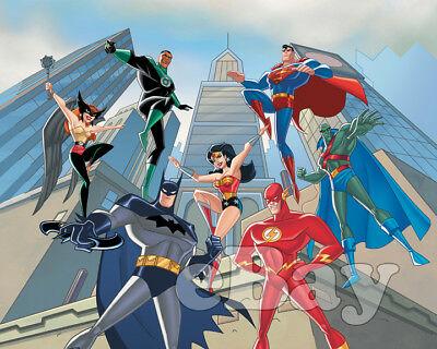 Rare! JUSTICE LEAGUE Cartoon Color TV Photo WARNER BROS ANIMATION DC Comics