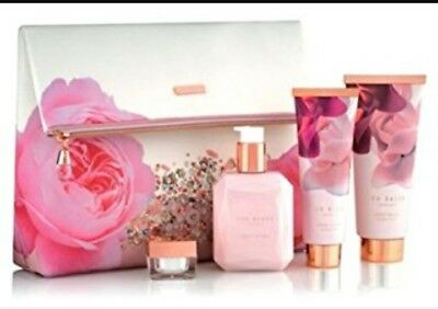 Ted Baker Blush Bouquet floral Gift Bag, body wash, hand cream, body lotion. New