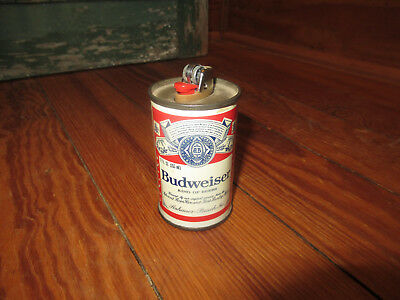 """Vintage Budweiser Lighter Can Holder Made in USA Bud Beer Advertising 3"""" Table"""