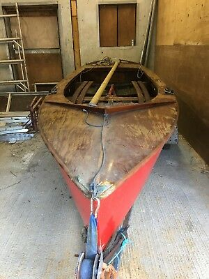 Gp14 wooden boat and trailer
