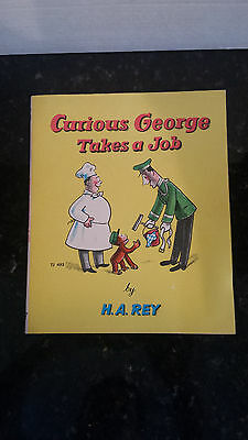 Vintage Collectable:  Curious George Takes A Job Copyright 1947 by H. A. Rey