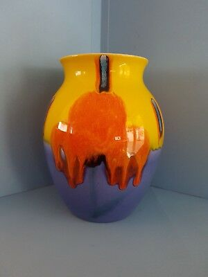 Poole Pottery Living Glaze Vase, Eight Inches High.