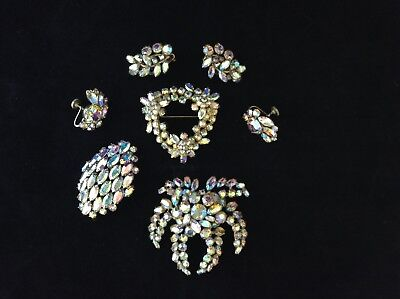 Vintage Estate lot of SHERMAN marked high-end costume jewelry