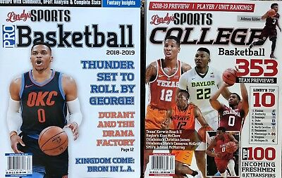Lot Of 2 Two Lindy'S Sports 2018-19 Pro College Basketball Magazine Nba