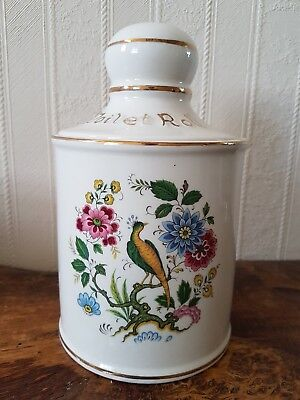Vintage Price Pottery Toilet Roll Holder With Lid
