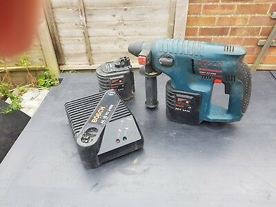 BOSCH GBH 24 VRE Cordless Rotary Sds Hammer Drill + 2 Batteries + Charger + Case