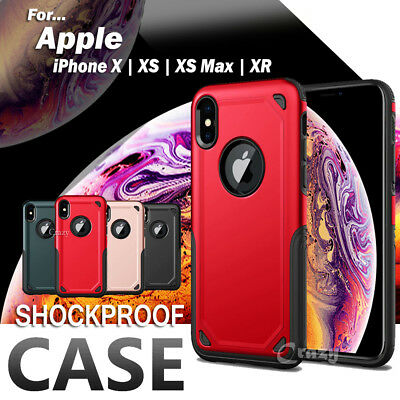 For Apple iPhone X XS XS Max XR Armor Shockproof Heavy Duty Back Case Cover