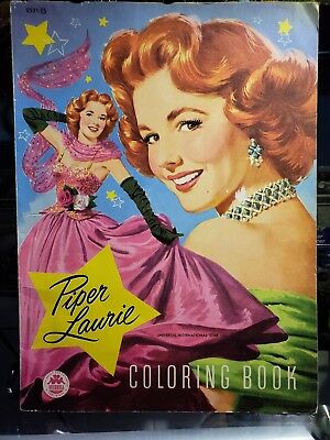 Vintage Piper Laurie Coloring Book~Merrill 1953