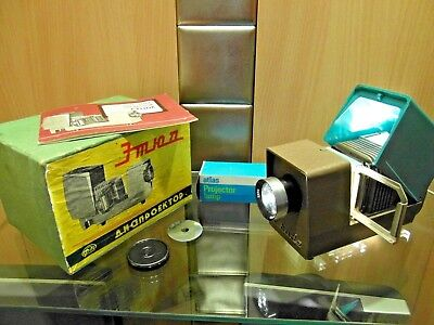 Exciting Russian Cccp Etude Still Slide Projector. Complete, Box, Instructions!