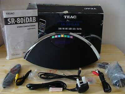 TEAC SR-80iDAB/FM/MP3/USB WITH iPOD DOCKING STATION.