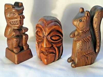 North American Iconic Group. Squamish Indian, Wildlife, Beaver And Chewing Stick
