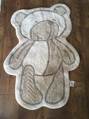 Mothercare Large Cotton Unisex Please Look After Me Teddy Bear Nursery Rug