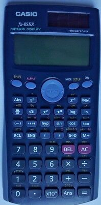 Casio FX-85ES Scientific Calculator Solar / Battery Power Free Postage & Packing