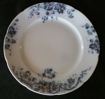 Antique ALFRED MEAKIN OBAN DINNER PLATE BLUE GOLD ENGLAND Vintage flow