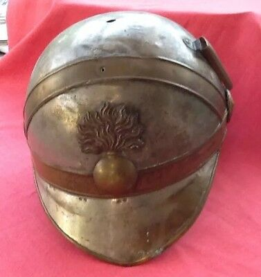 Rare French Military Helmet, Possibly 19th Century, With Neck Guard