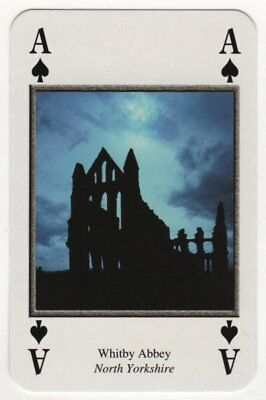 Single Playing Card - Ace of Spades - Whitby Abbey