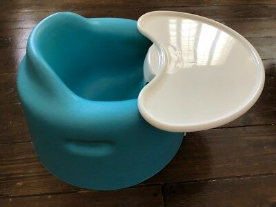 Blue Bumbo Baby Seat With Removable Tray