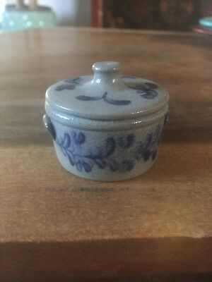 Miniature Rowe Pottery Dutch Oven/Crock with Lid Dated 1993