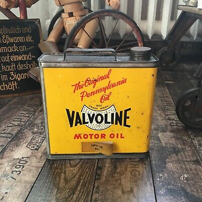 VALVOLINE MOTOR OIL - Original Pennsylvania Oil - Öldose mit Inhalt RARITÄT! Can