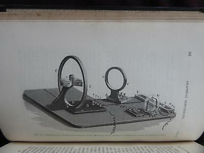 1896 Very Early Electrical Instruments Book, Made In Glass Brass Wood Ebony Rare