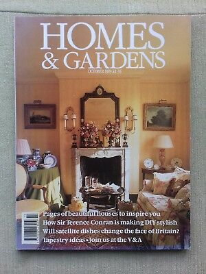Homes & Gardens magazine October 1989 Vintage edition