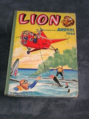 LION ANNUAL--1960--UNCLIPPED---PRICED 8/6 net ---JOB LOT