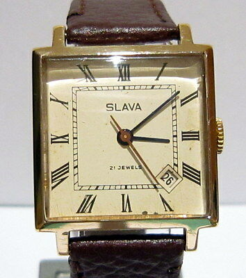 """Vintage Extremely Rare Beautiful Russian Gold Plated""""slava""""serviced  # 615"""