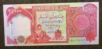 One 25,000 New Iraqi Dinar Uncirculated Note/Currency - No Reserve