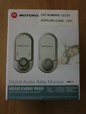 Motorola Mbp11 Digital Audio Baby Monitor Brand In The Box Never Been Used.