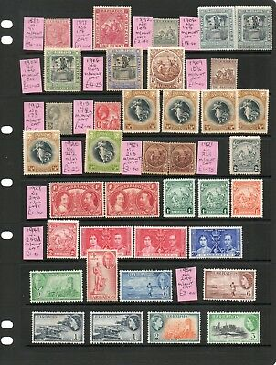 Barbados Collection - Victoria To Qeii On 5 Sides - Mounted Mnt & Used