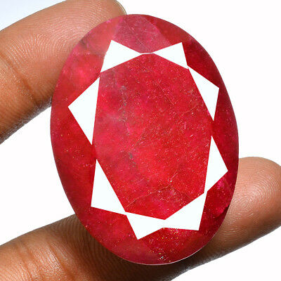 197 Ct Natural USA Red Beryl Faceted Cut Pendant Size Gemstone ~ 45x34x18 MM