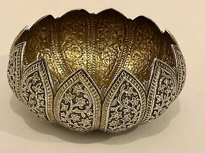 Superb High Quality Antique Islamic Persian Indian Kashmir Solid Silver Bowl