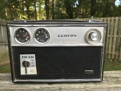 Vintage Lloyds TF-57L AM/FM 11-Transistor Portable Radio Works but Please Read