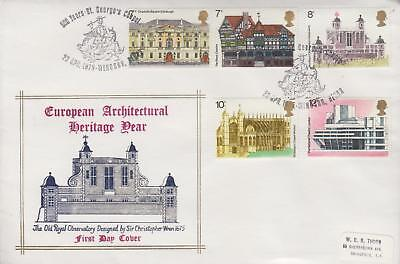 GB 1975 European Architectural Heritage St George Chapel Official FDC, SCARCE!