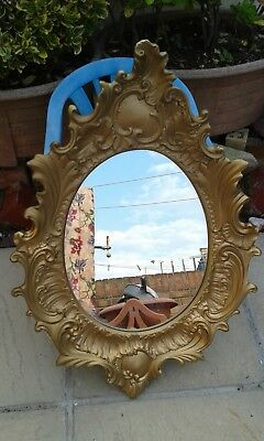 Vintage French Style Baroque Rococo Gold Antique Ornate Wall Mounted Mirror