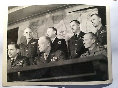 Original 1944 Press Photo Members SHAEF named Norfolk House Westminster