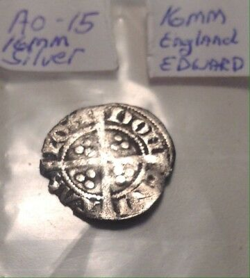 Medieval Silver Coin 16mm England Long Cross 1307-1325AD London Mint