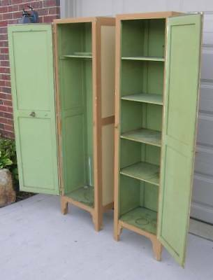 Two HTF Hoosier Style Cabinet Side Pantry Cabinets