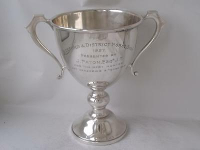 """Solid Sterling Silver """"Horse Show"""" Trophy Cup 1926/ H 17 cm/ 370 g"""
