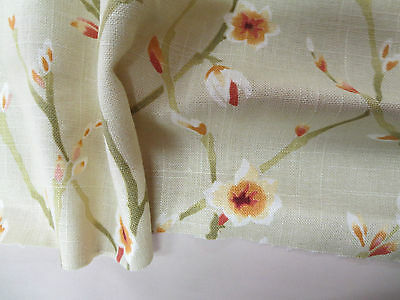 Duralee Fabrics Pattern 42135 Color Linen 1.1 Yd x 55 In Floral Linen Blend