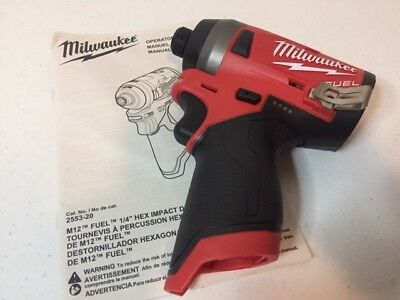 "Milwaukee 2553-20 M12 FUEL 1/4"" Hex Impact Driver- New 2018 Product"