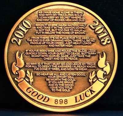 Forrest Fenn Searcher Coin #898 - The Thrill of the Chase  - LAST ONE
