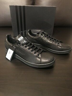 the best attitude 7f600 dd525 ADIDAS BY RAF Simons (Stan Smith) - Black Leather Sneakers - Men's Size 11