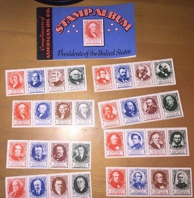 Amoco Oil Company Presidential Stamps and Booklet