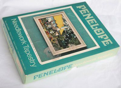 Vintage Boxed Penelope Needlework Tapestry Kit P5451 Thatched Cottage