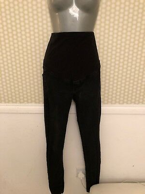 H&M Mama Black Maternity Skinny Jeans Size 8 Over Bump