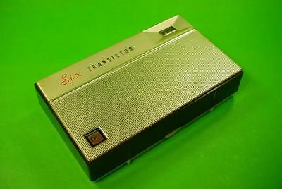 Vintage Retro Transistor Six Radio With Original Leather Case Made In Japan